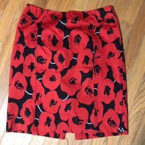 Fabulous poppy print skirt